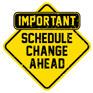 Schedule change icon