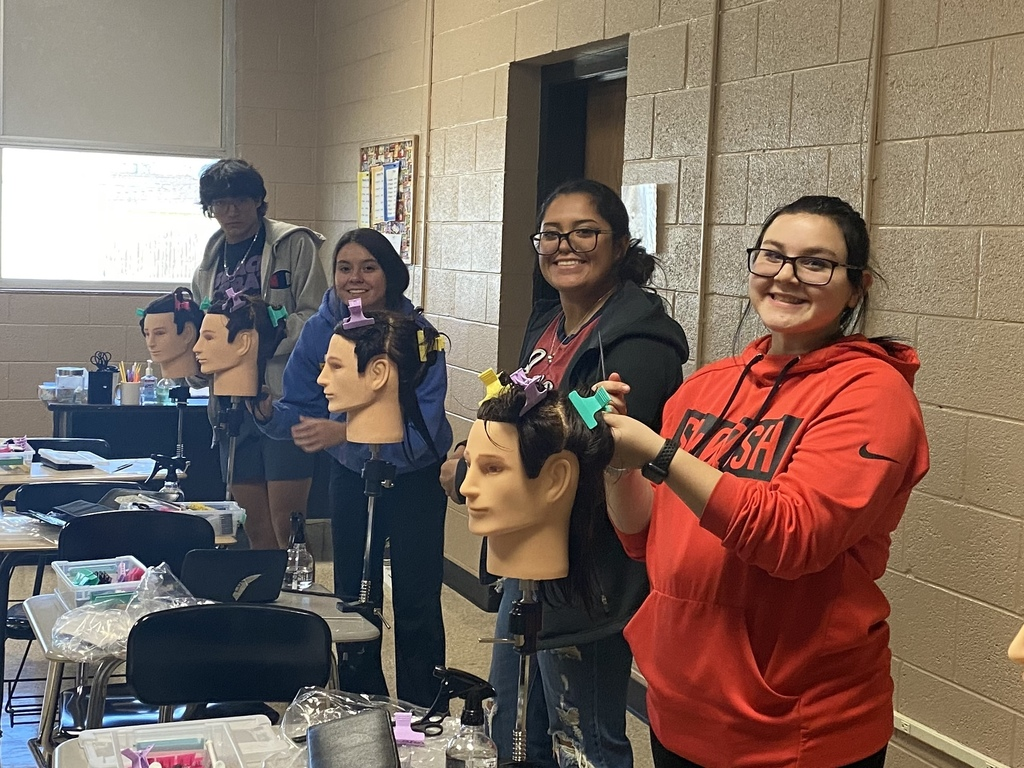 Students in the cosmetology class