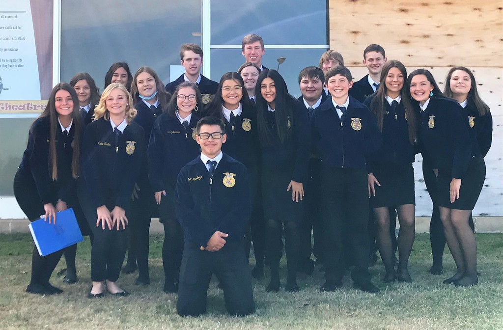 FFA Members that competed at the Top O' Texas District Leadership Development  Events