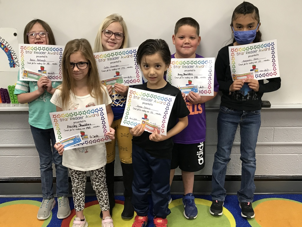 1st grade students that read over 195 minutes for the month of November