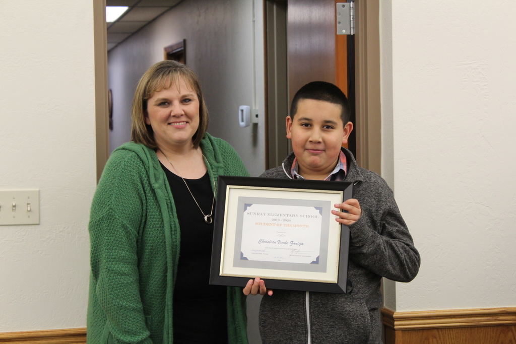 February Elementary student of the month