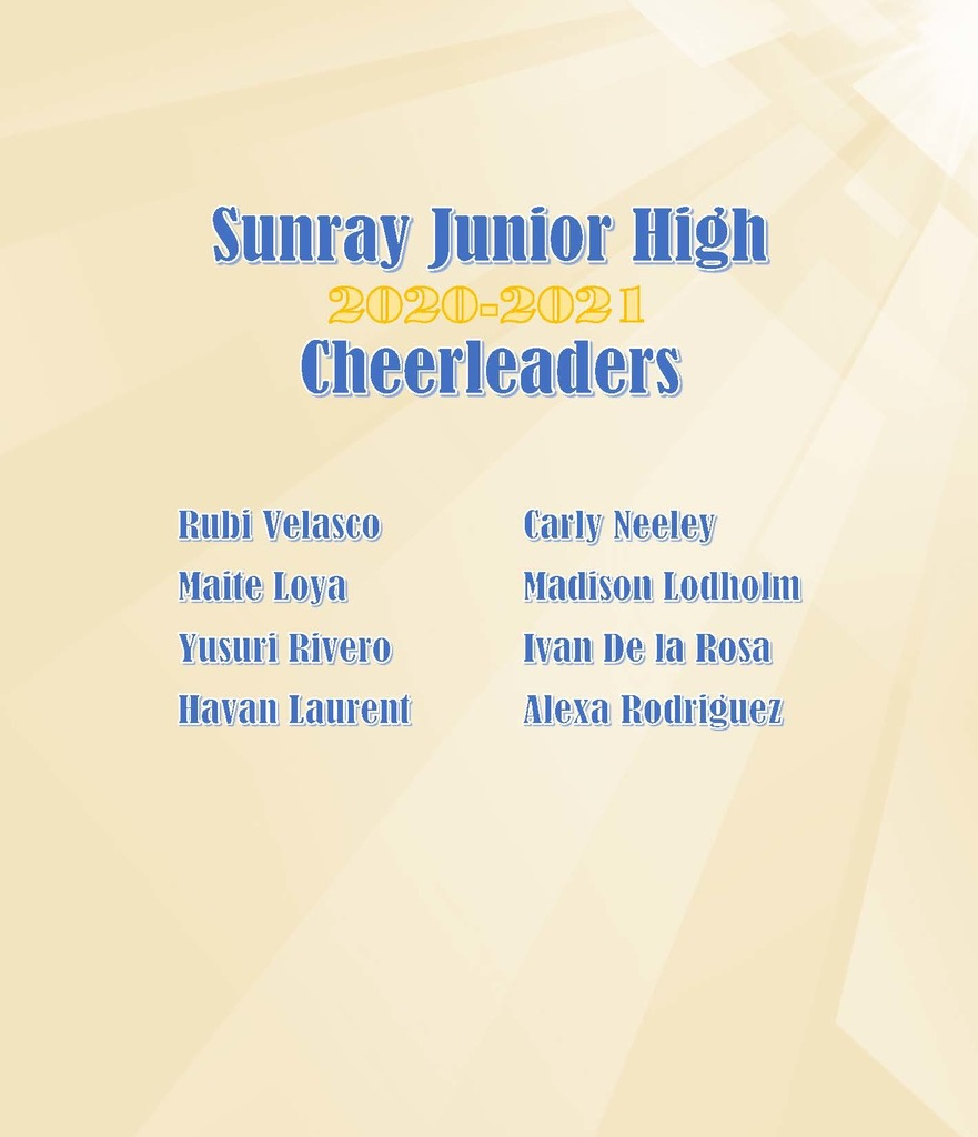 Jr. High Cheerleading Results