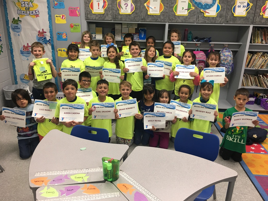 2nd Graders received their swim certificates