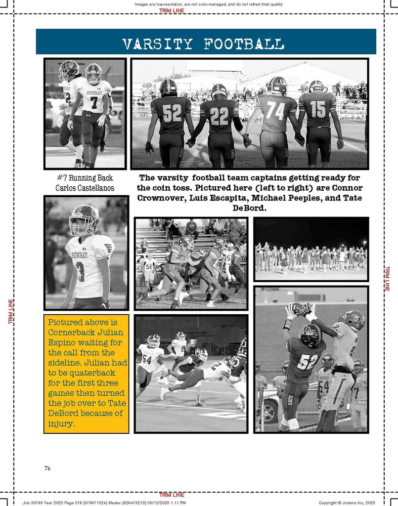 Football preview for yearbook