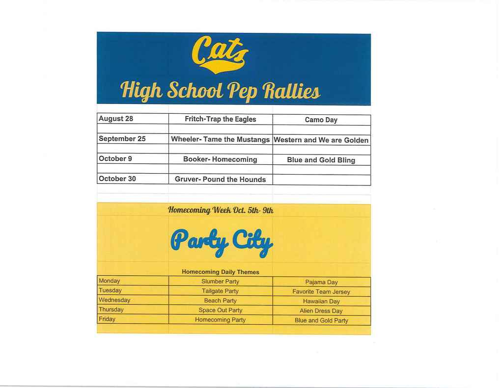 Pep Rally Information
