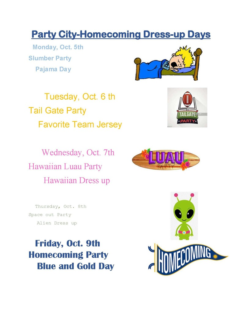 Homecoming 2020 Dress Up Days