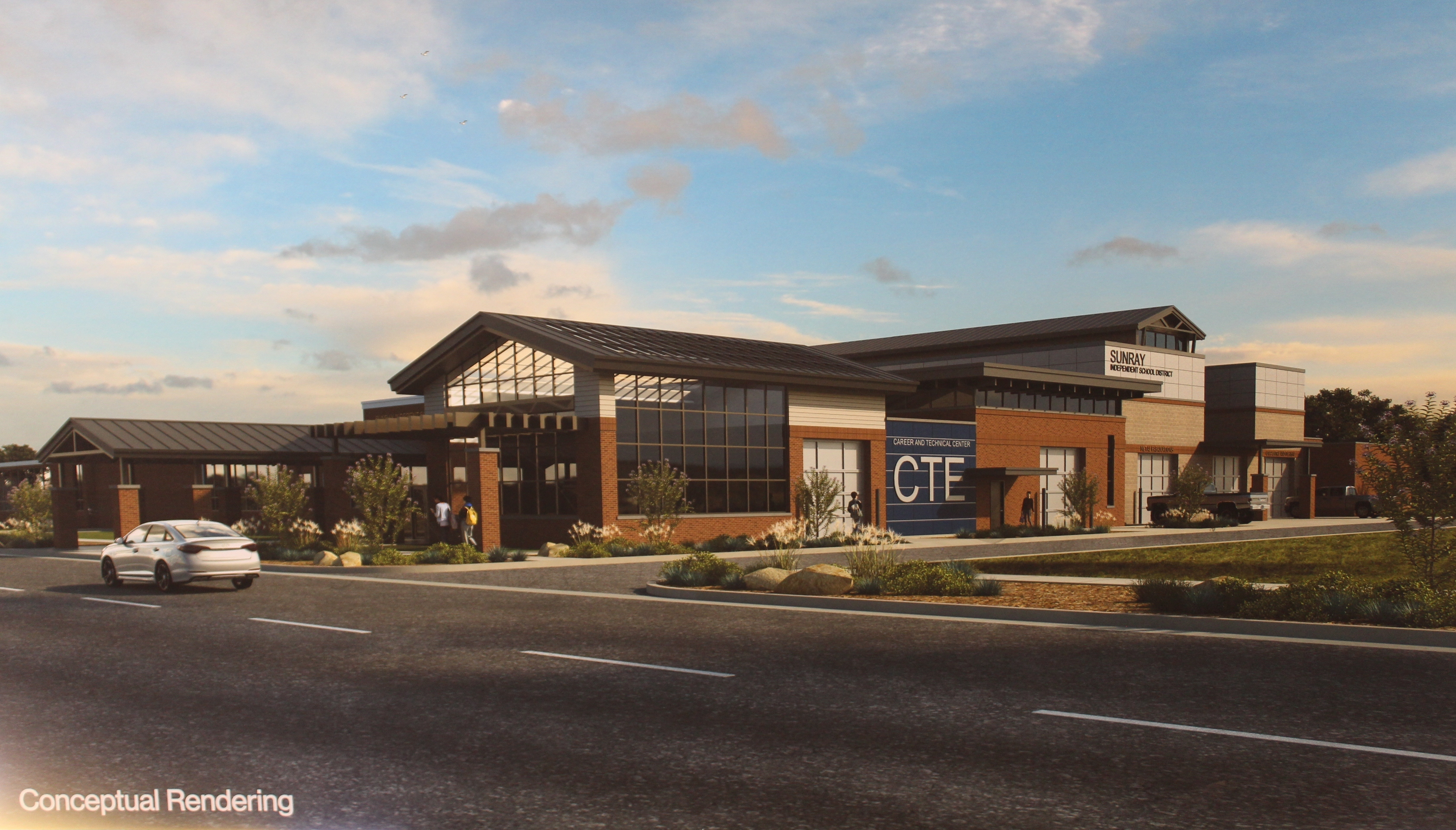 CTE building being built in the 2019 Bond